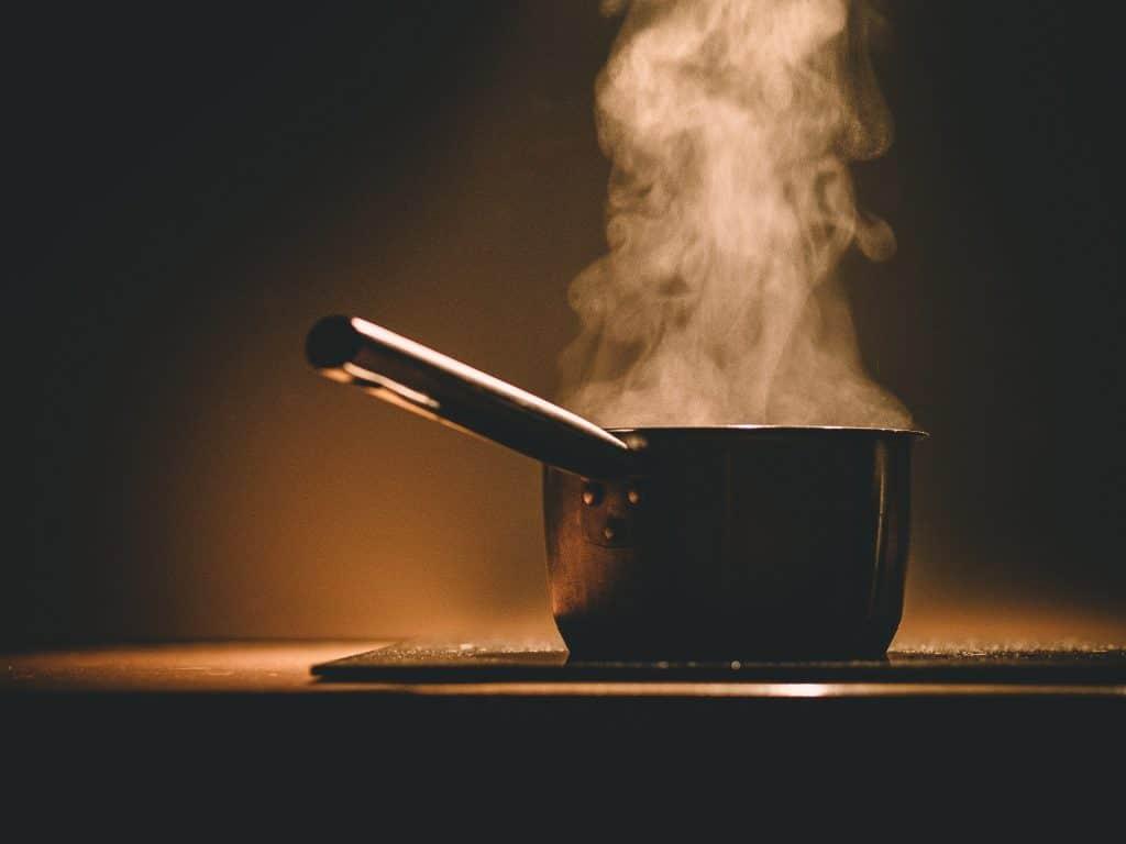 hot steam